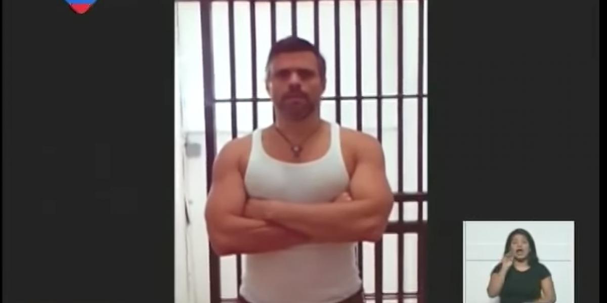 Venezuela: Presentan video de Leopoldo López, pero su esposa dice que es editado