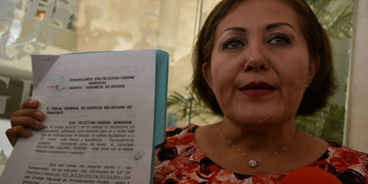 Fiscalía de Veracruz pide juicio de desafuero contra Eva Cadena