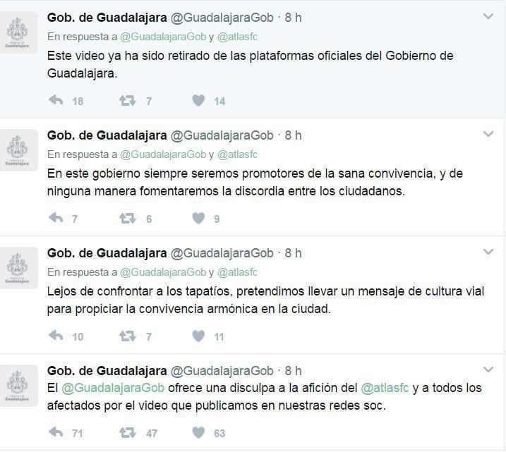 Ayuntamiento de Guadalajara se disculpa con Atlas