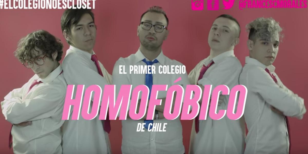 """Youtuber lanza viral para criticar a colegio que califica de """"error"""" la homosexualidad"""