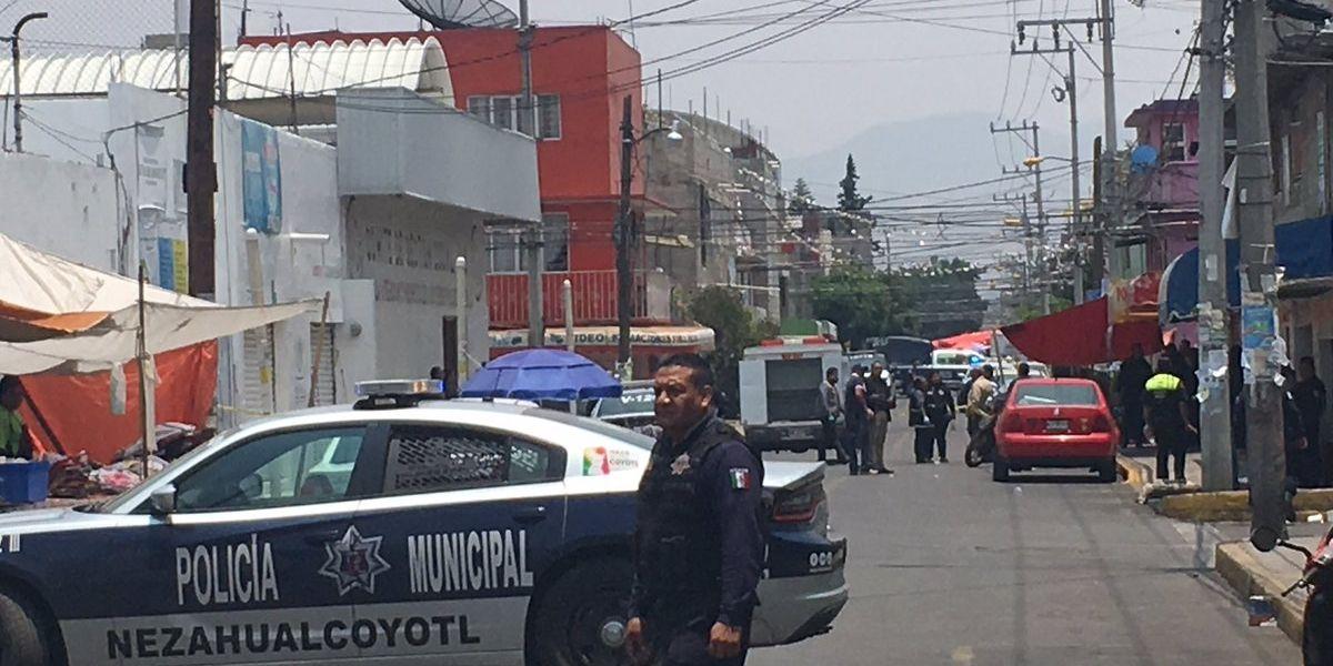 VIDEO: Tres muertos deja asalto en oficinas del PRI de Nezahualcóyotl
