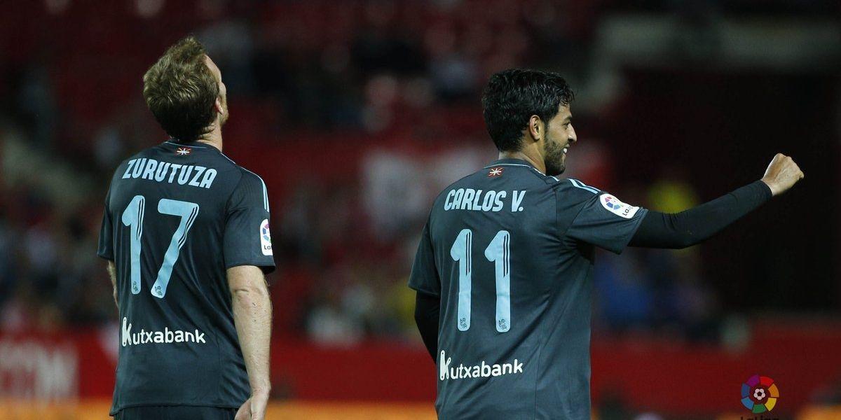 VIDEO: Carlos Vela anota y rescata empate de la Real Sociedad frente al Sevilla