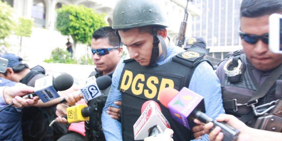 Jabes Meda es trasladado a Tribunales bajo fuertes medidas de seguridad