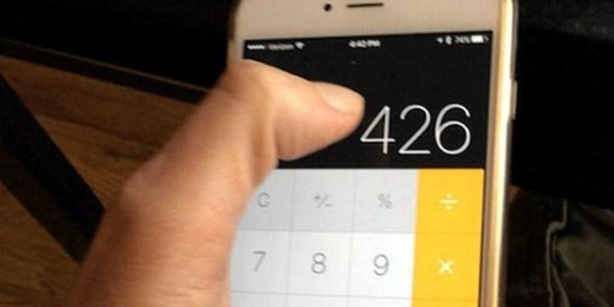 EL truco de la calculadora del iPhone enloquece Internet