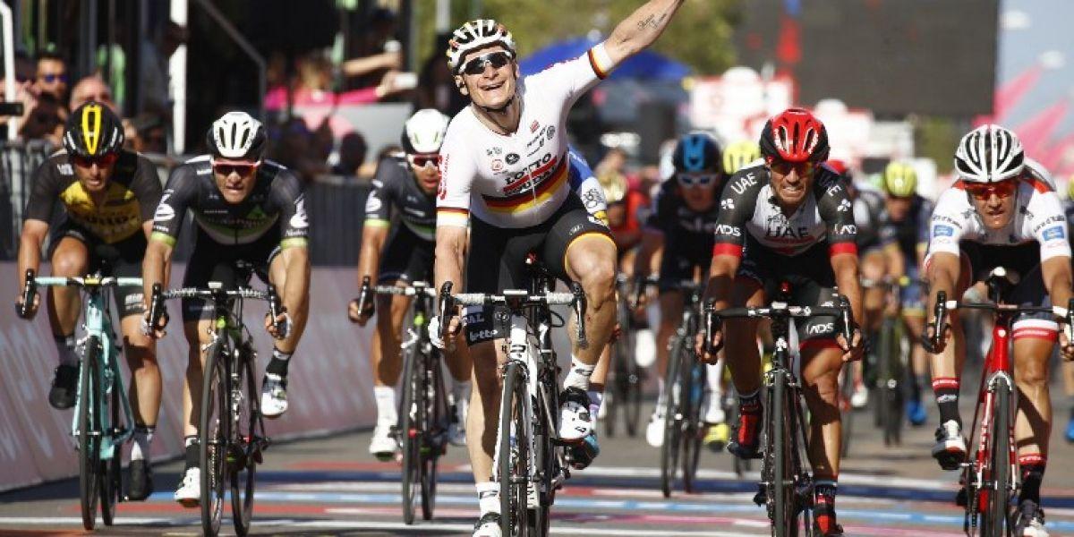 El alemán Andre Greipel sube al liderato del Giro de Italia