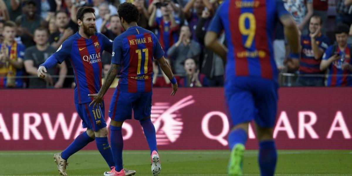 El Barça golea de la mano de la MSN y ayuda al Sevilla de Sampaoli