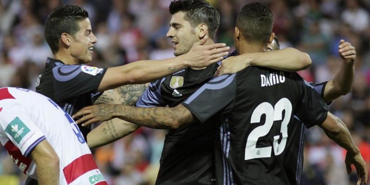 Real Madrid vapulea al Granada y sigue con la primera opción de ganar la Liga española