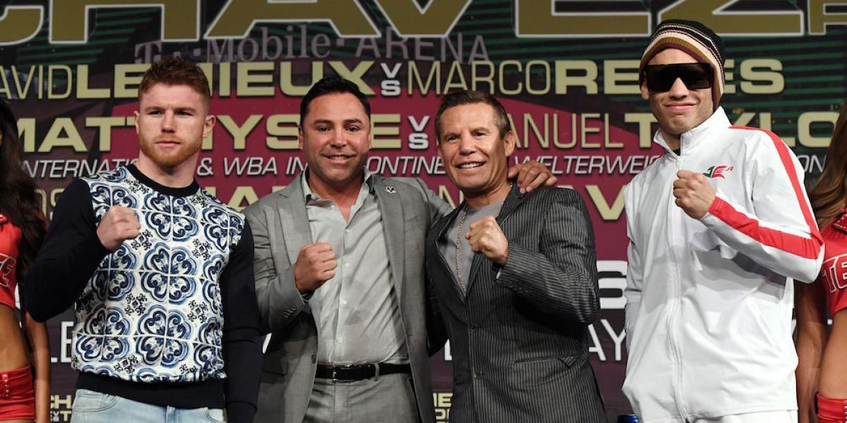 De la Hoya invitó a Trump a la pelea entre Canelo y Chávez Jr.
