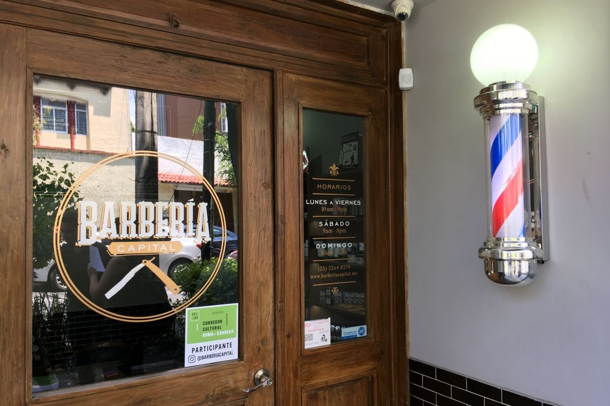 Barbería Capital. | Foto: Oscar Santillán.