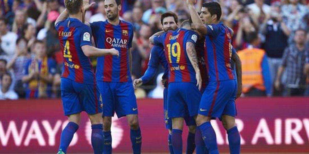 Messi, Neymar y Suárez dejan vivo al Barcelona en la Liga Española