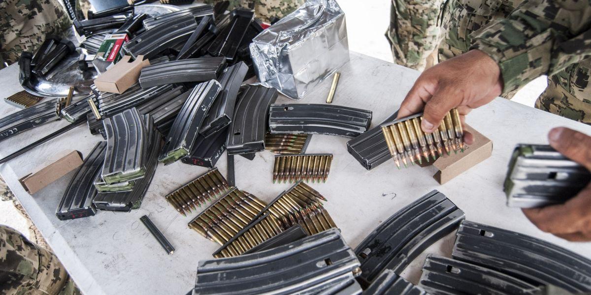 Autoridades aseguran más de 11 mil cartuchos útiles en Tamaulipas