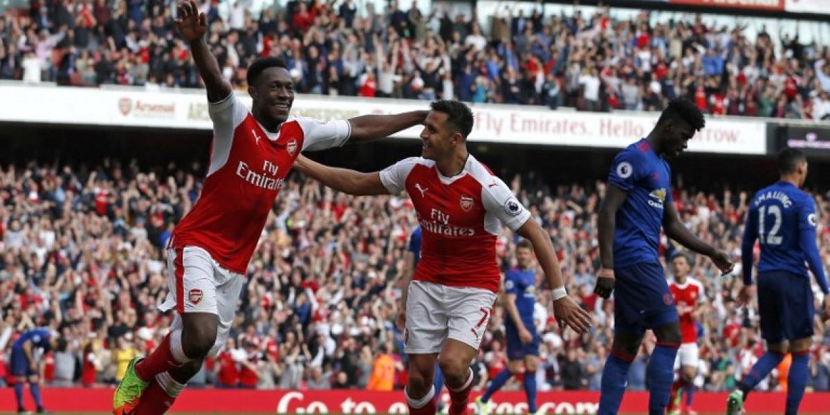 Alexis y el Arsenal le quitan un largo invicto al United y sueñan con la Champions