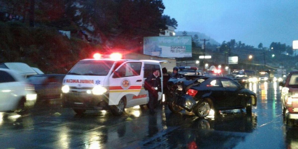 Accidente de tránsito deja una persona herida en Quetzaltenango