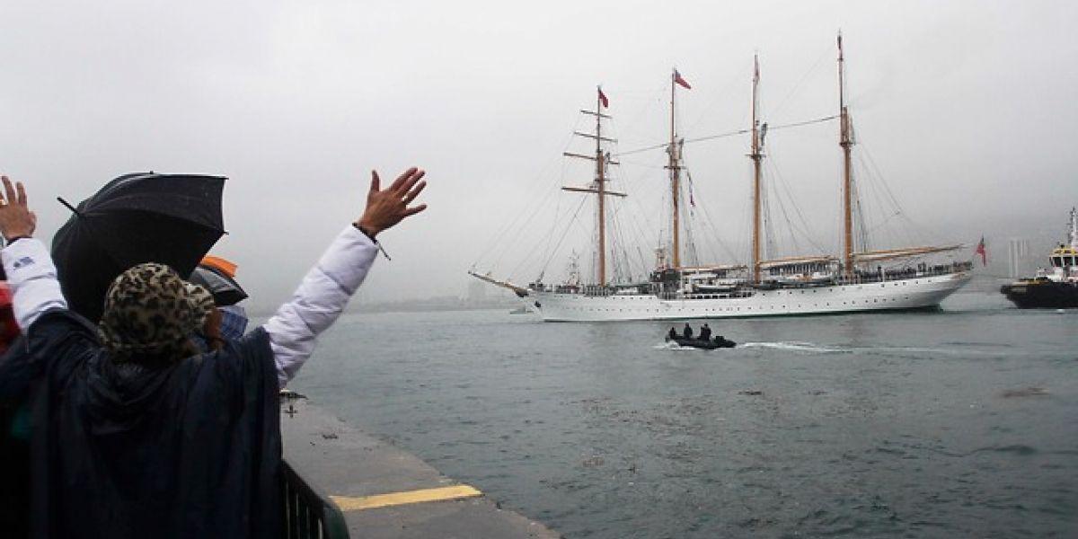 Buque Escuela Esmeralda zarpa desde Valparaíso y recorrerá seis países