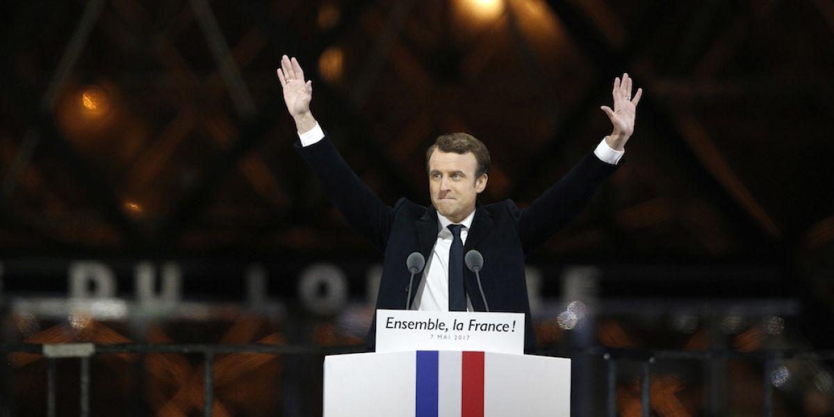 """""""Lo que hemos hecho no tiene precedente"""": Macron en los festejos de su victoria"""