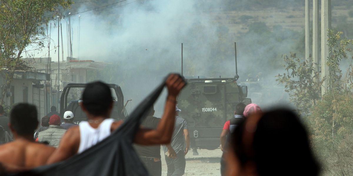 Dictan prisión oficiosa a 9 personas por ataque a Ejército en Puebla