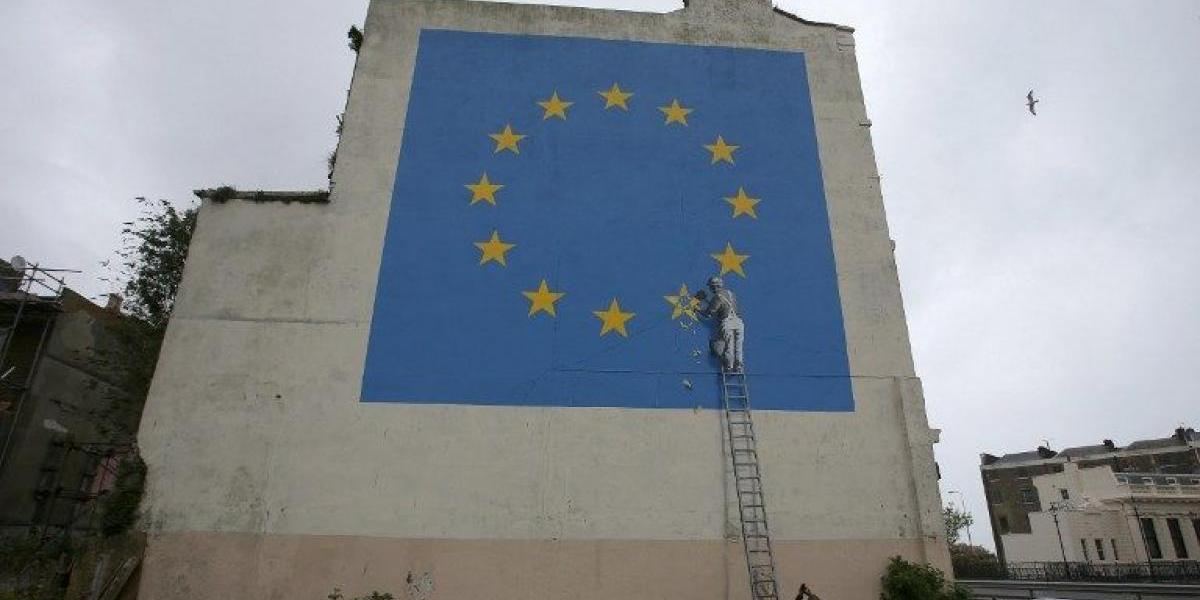 Banksy pinta por primera vez el Brexit