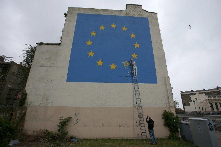 El primer mural de Banksy sobre el Brexit