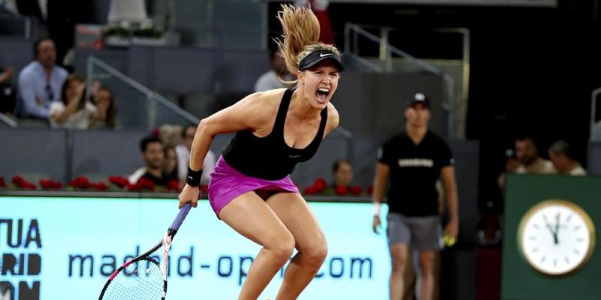 Eugenie Bouchard repasó a Maria Sharapova tras eliminarla del WTA de Madrid