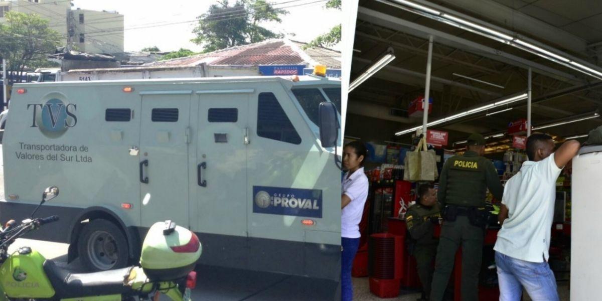 Así se ejecutó el asalto a guardianes de una transportadora de valores en Barranquilla