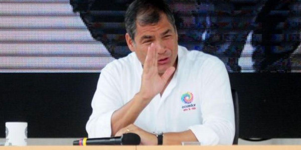 Rafael Correa participó en el penúltimo Enlace Ciudadano