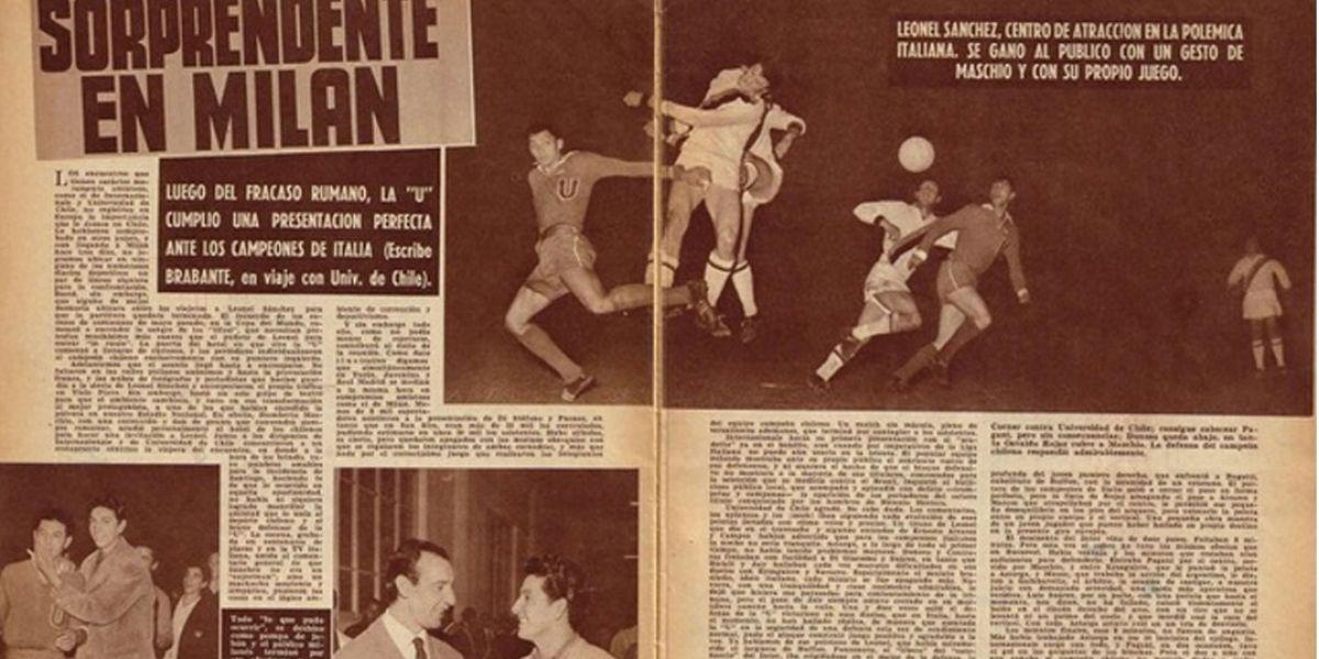 """La U se sumó a la moda """"revancha retro"""" y desafió al Inter de Gary Medel"""
