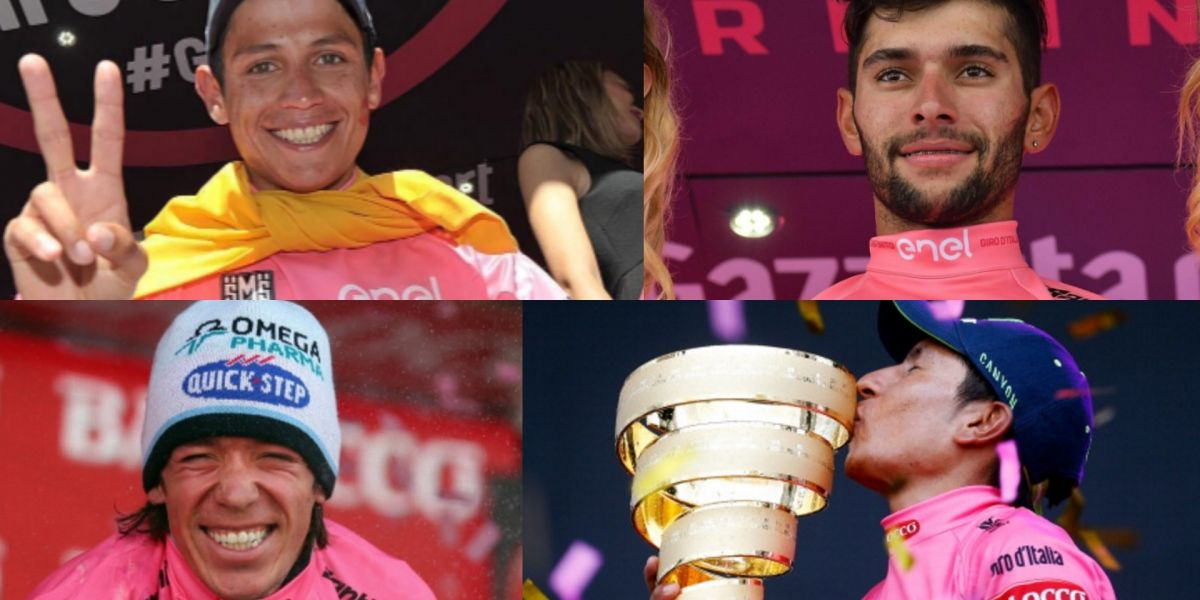 Los 4 colombianos que han vestido la 'Maglia rosa' del Giro de Italia
