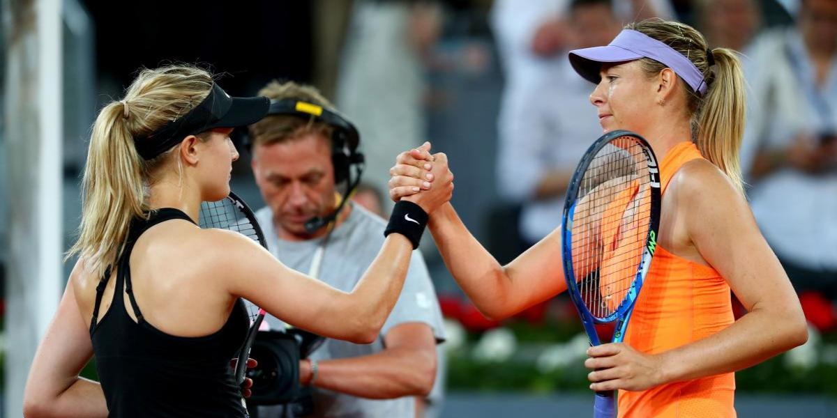 Sharapova es eliminada del Abierto de Madrid por quien la llamó tramposa
