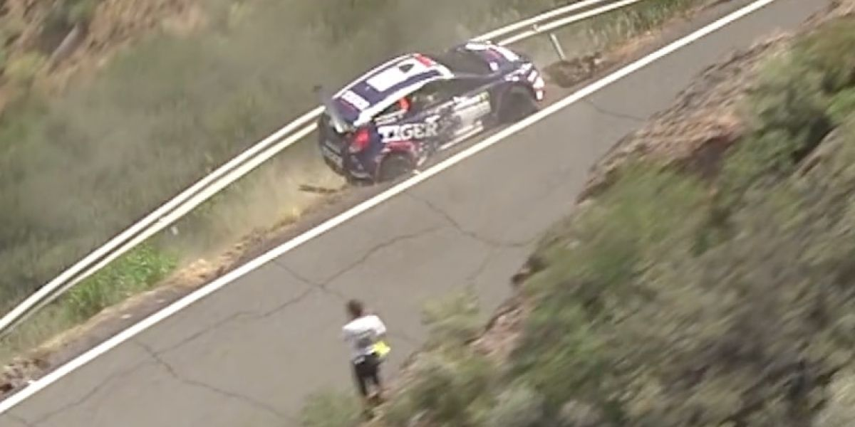Mira la sorprendente salvada en el Europeo de Rally en España