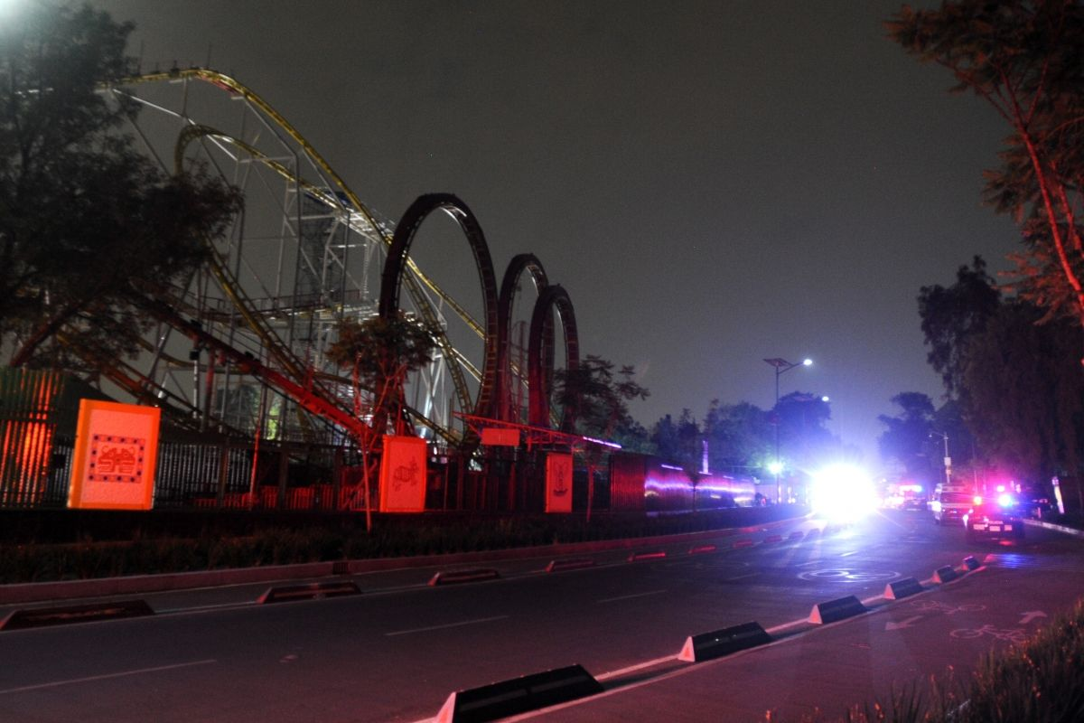 Incendio en la Feria de Chapultepec Foto: Cuartoscuro