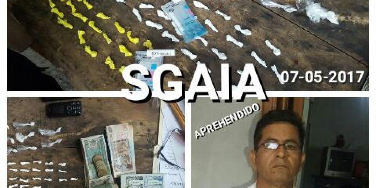 Seis capturados y droga decomisada tras operativo antinarcótico