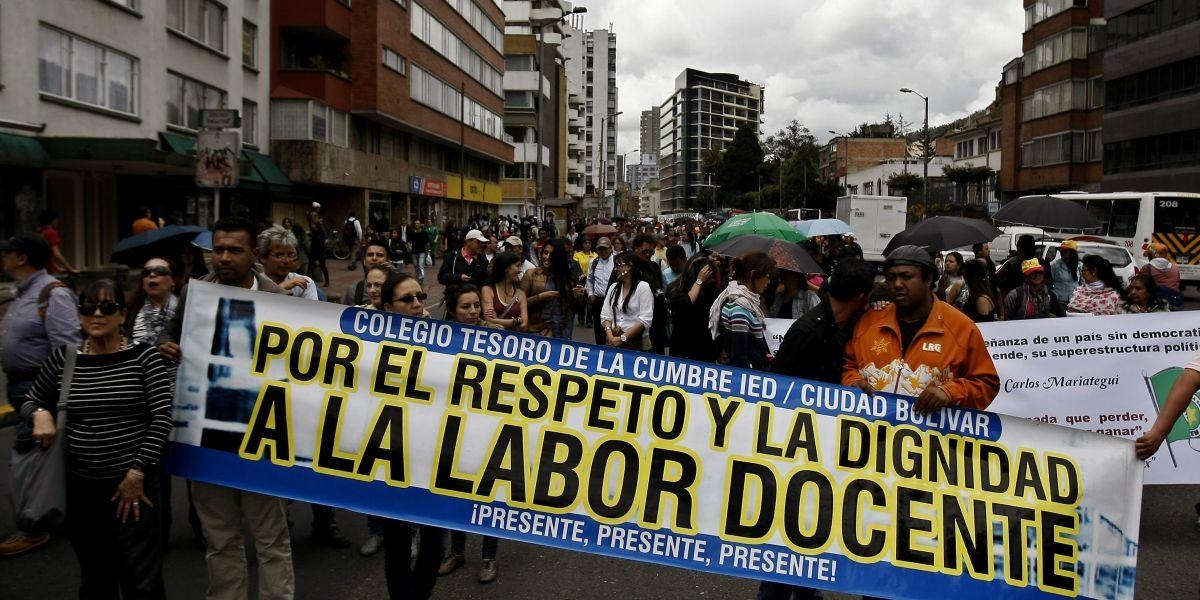 """Inicia el paro de docentes, mientras Santos dice que """"no hay recursos"""""""