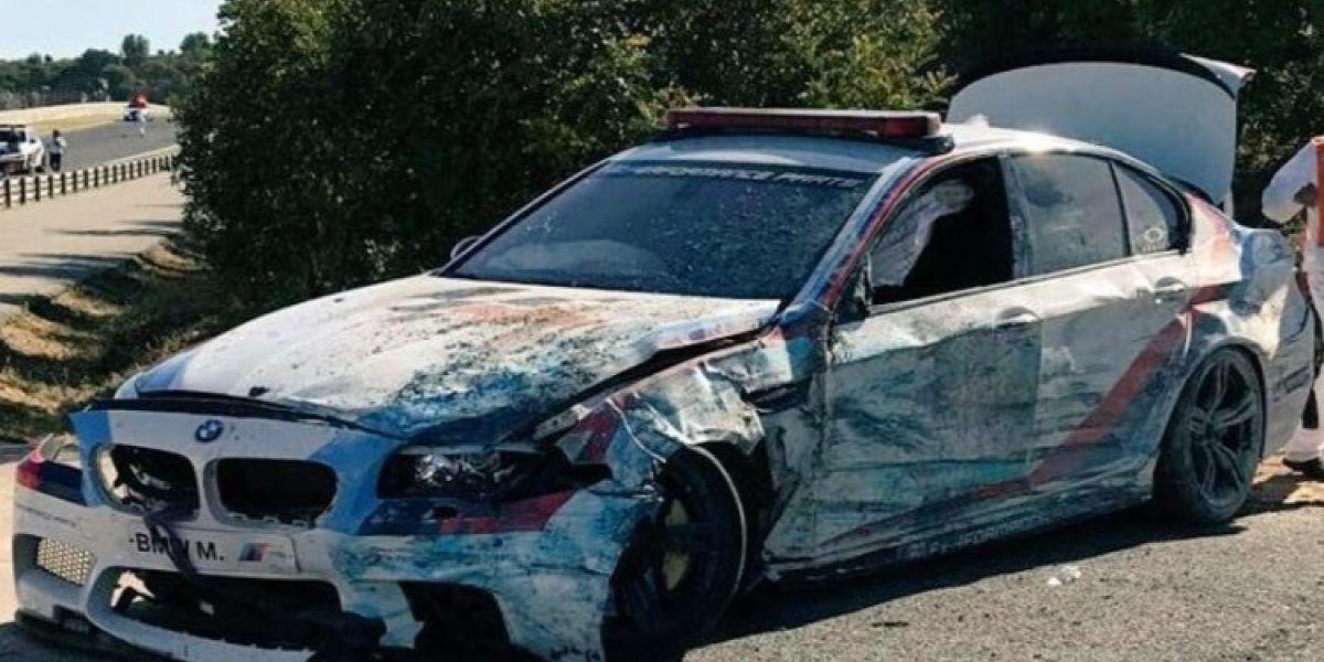 Insólito accidente del safety car en el MotoGP