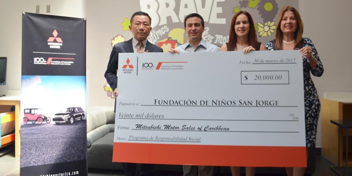 Mitsubishi Motors ayuda a la operación de la Fundación San Jorge