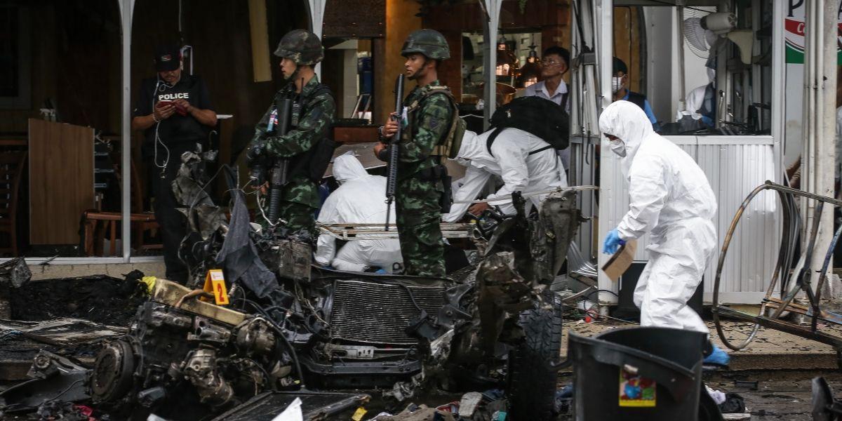 Más de 50 heridos en Tailandia por la explosión de un coche bomba