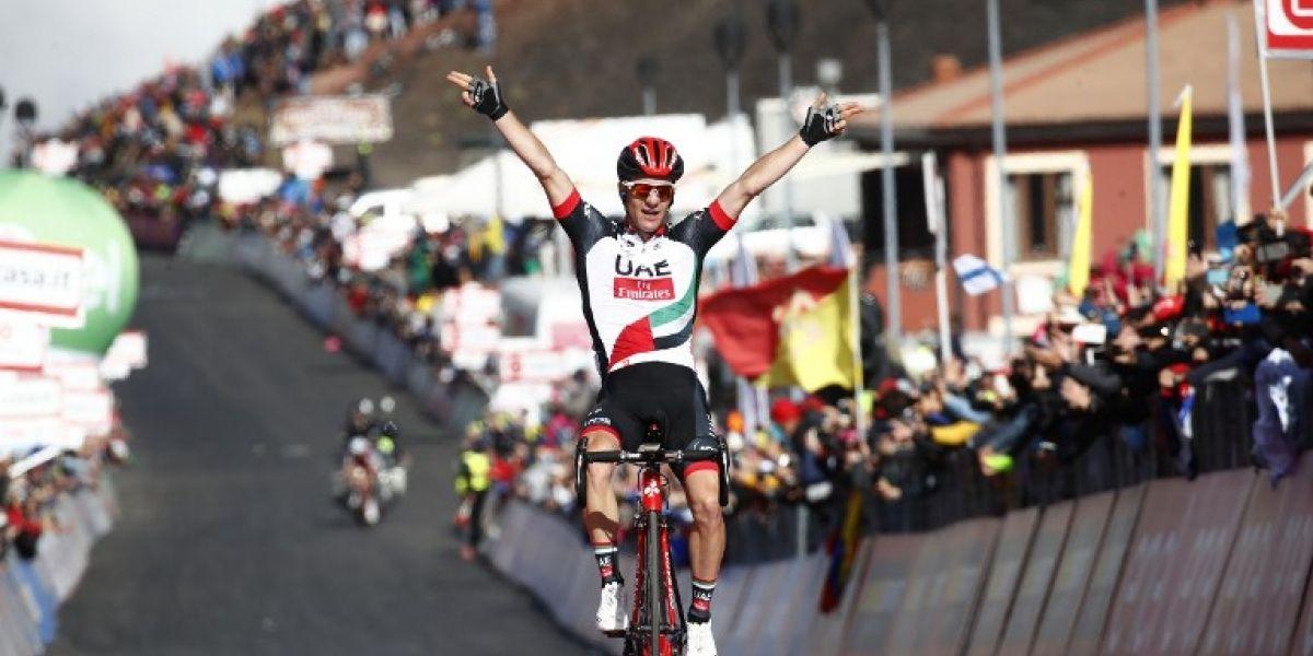 Giro de Italia: Polanc se impone en el Etna y Jungels se calza la Maglia Rosa