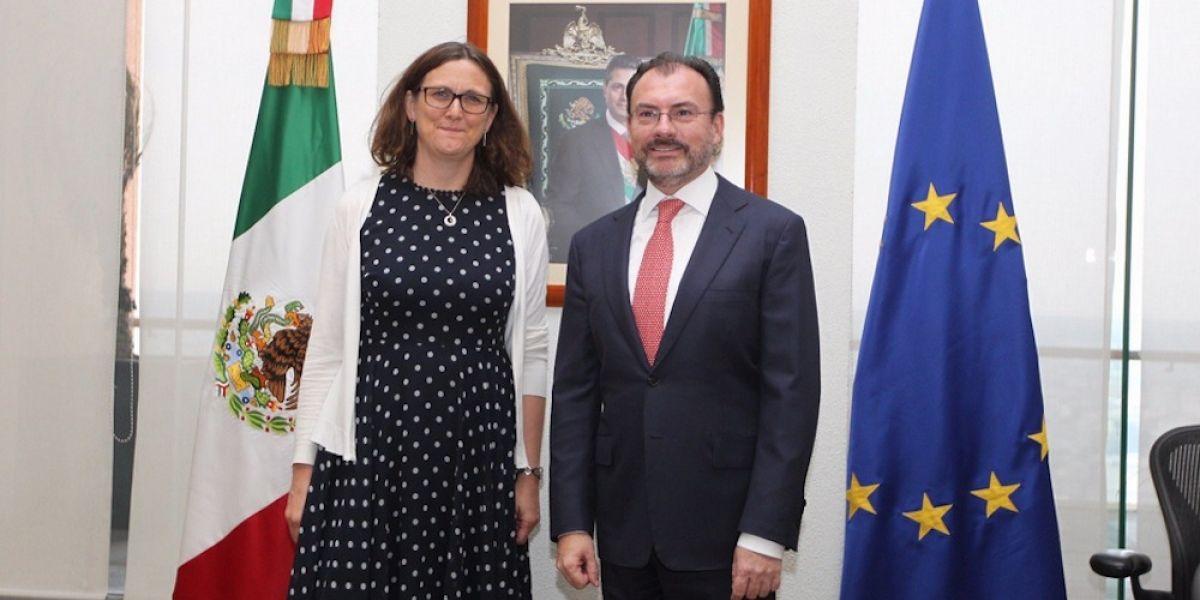 Luis Videgaray se reúne con la Comisaria de Comercio de la Unión Europea