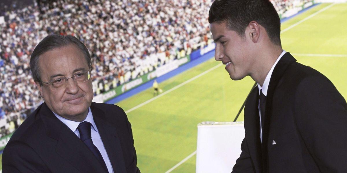 James se va si Zidane se queda, conversación con Florentino según 'El Chringuito'