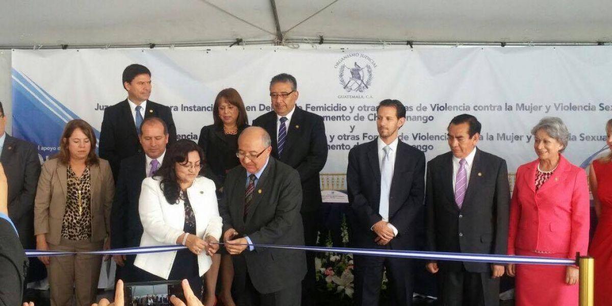 CSJ inaugura Juzgado de Primera Instancia y Tribunal de Femicidio en Chimaltenango