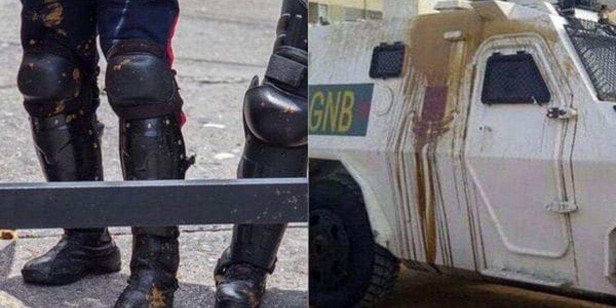 """""""Bombas Puputov"""": Cócteles de excrementos como nueva arma de los opositores contra la represión en Venezuela"""