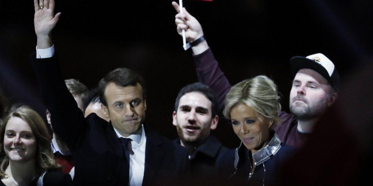 El dueño de una pizzería que se hizo famoso al celebrar la victoria con Macron