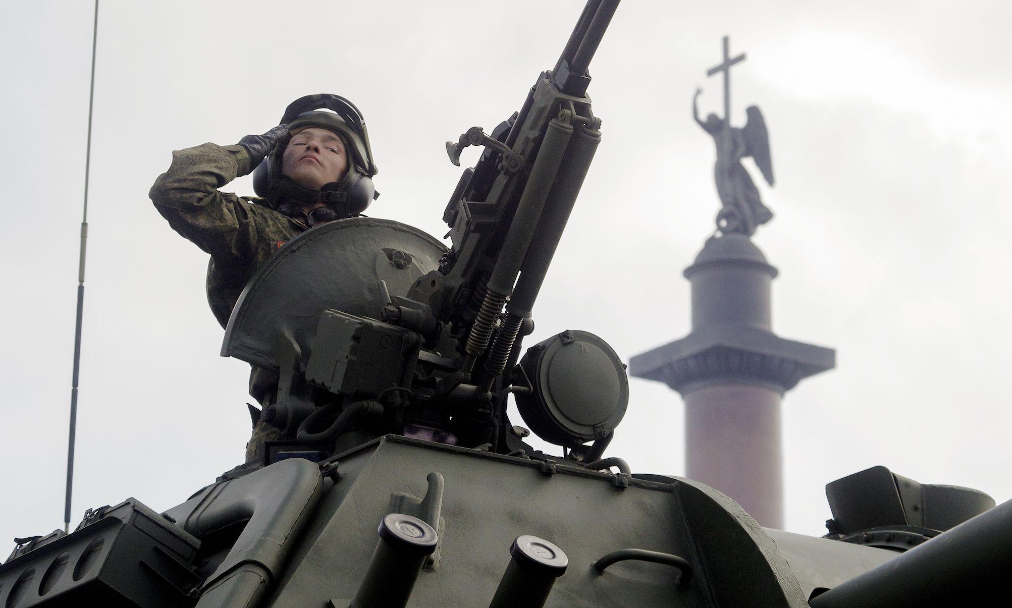 La celebración del Día de la Victoria, en Rusia Foto: AP