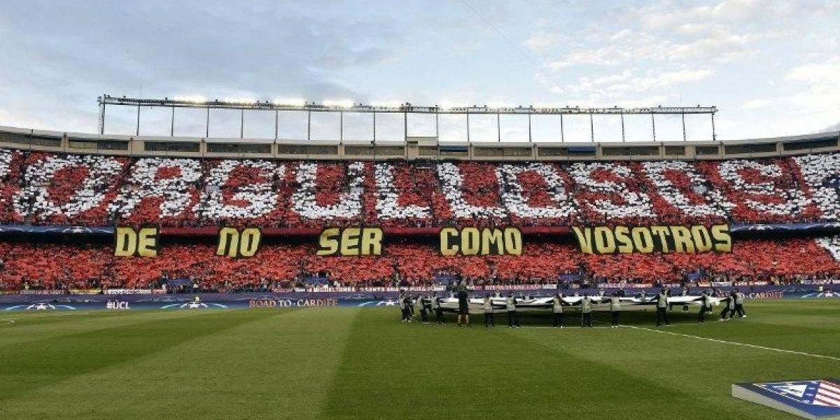 La notable respuesta de los hinchas del Atlético a la provocación del Real Madrid
