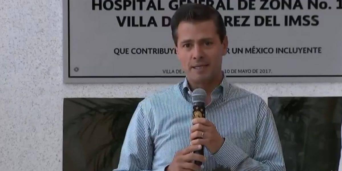 Peña Nieto inaugura dos hospitales en Colima en el marco del Día de la Madre