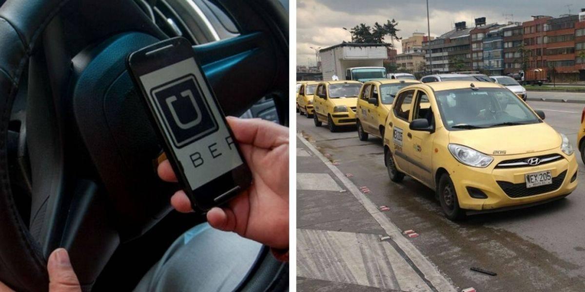 Taxis y Uber se enfrentan por sus realidades que son muy diferentes