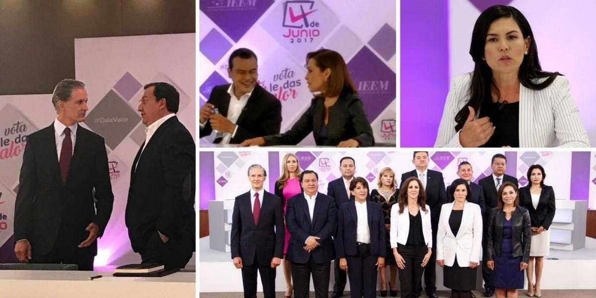 """Candidatos al Edomex juegan a las """"fuercitas"""" en segundo debate"""