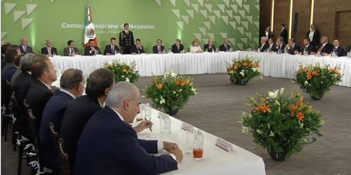 Consejo Mexicano de Negocios anuncia inversión de 31 mil 430 mmd para 2017