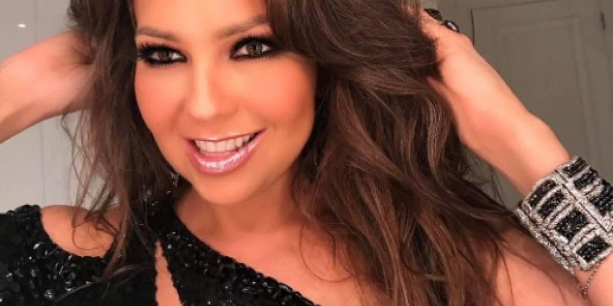Thalía muestra increíble figura y seguidores cuestionan tamaño de su trasero