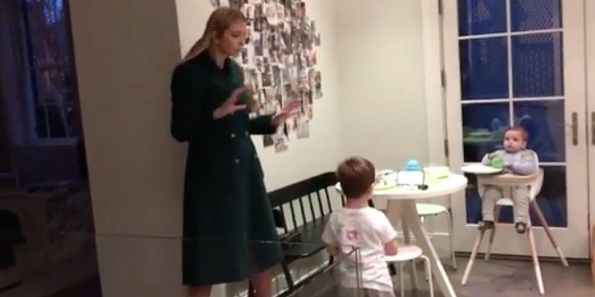 Ivanka Trump comparte en redes divertido video de sus hijos