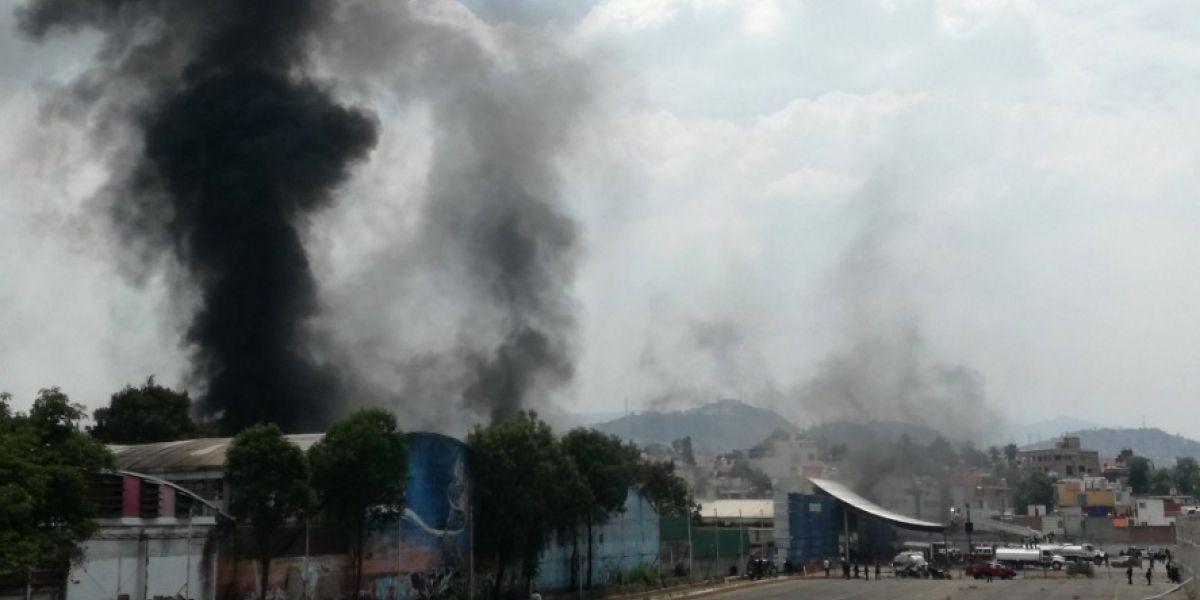 Se incendia casino abandonado en Naucalpan